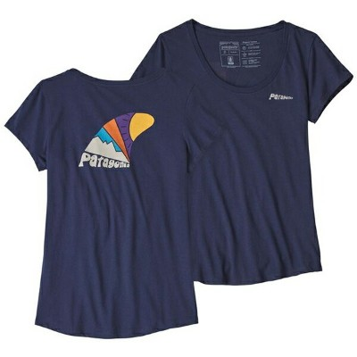 patagonia パタゴニア Ws Skeg Set Organic Scoop T-Shirt/CNY/XL 39190女性用 ネイビー