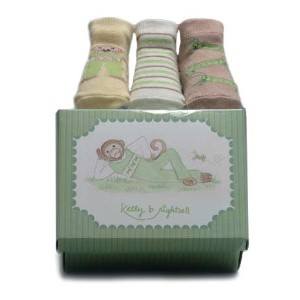 Kelly B. Rightsell Pickles Designs Sock Set, Mac Monkey by Kelly B. Rightsell