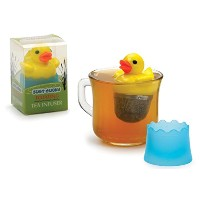 "Just Ducky Floating Duckステンレススチールメッシュ2 "" Loose Tea Infuser絞らCup"
