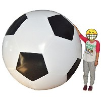 Inflatable Soccer Football PVC Holidayパーティー装飾ブラック6フィートGiant