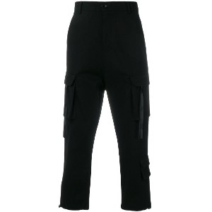 D.Gnak cropped technical trousers - ブラック