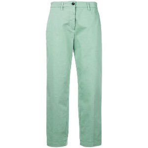 Department 5 slim-fit cropped trousers - グリーン