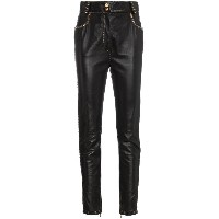Versace slim-fit leather trousers - ブラック