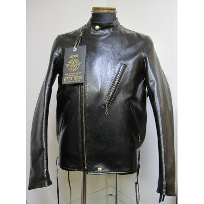ウエストライド(WESTRIDE)OAK CANYON LEATHER JKT BLK【送料無料】