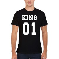 King Or Queen His And Hers Valentines Couple Novelty Men Women Unisex Top T Shirt-M