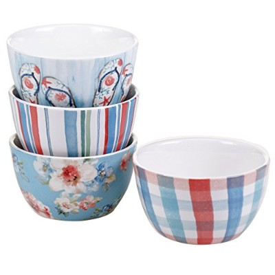 Certified International by Lisa Audit in the Moment Set of 4 Ice Cream Bowls 5.5""