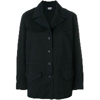 Labo Art military style buttoned jacket - ブルー