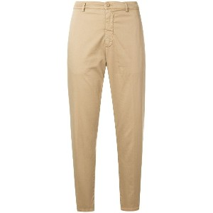 Dondup cropped trousers - ヌード&ナチュラル