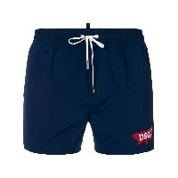 Dsquared2 logo patch swim shorts - ブルー