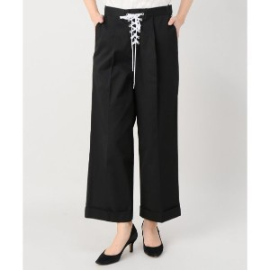 G.V.G.V twill laceup cropped trousers【ジョイントワークス/JOINT WORKS レディス その他(パンツ) ブラック ルミネ LUMINE】