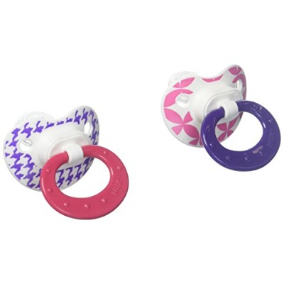 Nuk Silicone Core Pacifier - Size 2 - 2 Pk - Girl by NUK