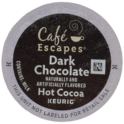 Cafテδゥ Escapes Hot Cocoa, Dark Chocolate, K-Cup Portion Pack for Keurig Brewers, 24-Count by Cafテδゥ...