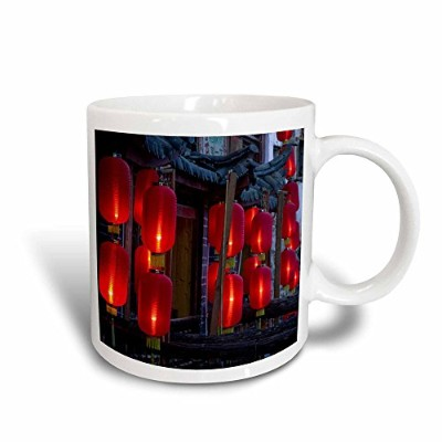 (330ml Magic Transforming Mug) - 3dRose mug_71084_3 CHINA, Yunnan, Lijiang, Xinhua Jie, lanterns...