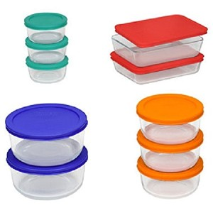 Pyrex 20ピースガラス食品ストレージセットBakeware Bowls with Lids Serving – 新しいby Pyrex