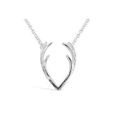 Rosa Vila AntlersネックレスwithミニマリストデザインDeer Antlers Inspired動物ネックレスの女性