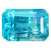 アパタイト ルーズジェームズ 2.57 ct PGTL 認定 OCTAGON CUT (9 x 6 mm) UNHEATED ブラジル APATITE LOOSE GEMSTONE
