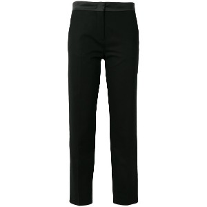 Moncler cropped tailored trousers - ブラック