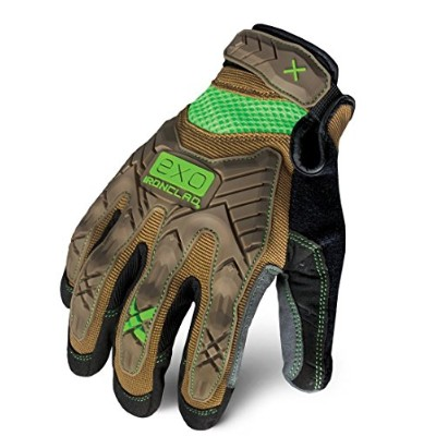 Impact Mechanics Glove、ブラウン/グレー、M、PR