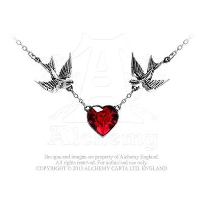 Swallowハートペンダントby Alchemy Gothic , England