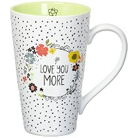 Love You More by Amylee週間54201 Latte Mug Cup、ホワイト