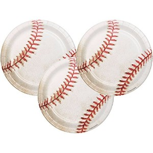 Baseball Sports Fanatic誕生日PARTY DESSERT PLATES 24 ct
