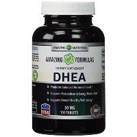 (DHEA サプリ) (Amazing Nutrition) Amazing Formulas DHEA Supplement - 50mg 120 Tablets Dehydroepiandrost