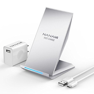 NANAMI Qi 急速 ワイヤレス充電器 「QC 2.0アダプター付属」 2コイル Quick Charge 2.0 ワイヤレスチャージャー おくだけ充電 iPhone 8 / iPhone 8...
