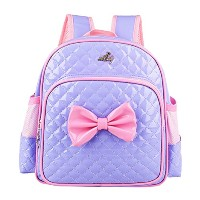 Zhhlaixing Cute Korean Style Bowknot Bag Kindergarten Baby Children's Kids Backpack ランドセル 防水 軽量 for...