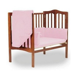 Solid Color Pink Portable Crib bedding by BabyDoll Bedding