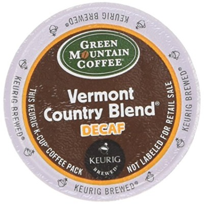 Green Mountain Coffee Vermont Country Blend Decaf, K-Cup Portion Pack for Keurig Brewers 24-Count...