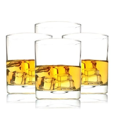 Old Fashioned Whisky Glasses for Wine, Scotch, Cocktails, Juice, and Water, set of 4, 350ml