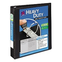 "Nonstick Heavy-Duty EZD Reference View Binder, 1-1/2"" Capacity, Black (並行輸入品)"