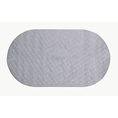 (White) - Heavy Duty Vinyl Weave Non Slip Bath Tub Safety Mat By Carnation - 38cm x 70cm - White