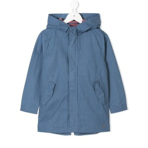 Knot hooded parka - ブルー