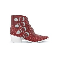 Toga Pulla Michael crystal boots - レッド