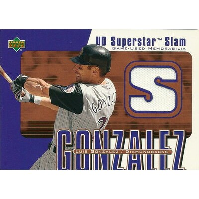 ルイス・ゴンザレス MLBカード Luis Gonzalez 2003 Upper Deck Superstar Slam Game Jerseys