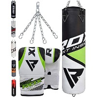 RDX Punching Bag Filled セット Kick Boxing Heavy MMA Training with グローブ Punch Mitts ハンギング チェーン Ceiling...