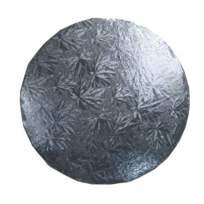(36cm) - Round Black Cake Board 1.3cm Thick - Pack of 6 (36cm)