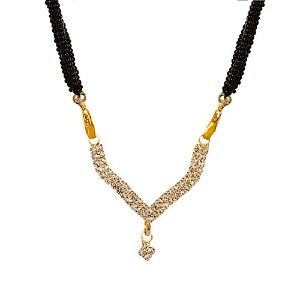 ゴールドメッキインドBollywoodエスニックMangalsutra Pendant with Chain Jewellery for Womenインド