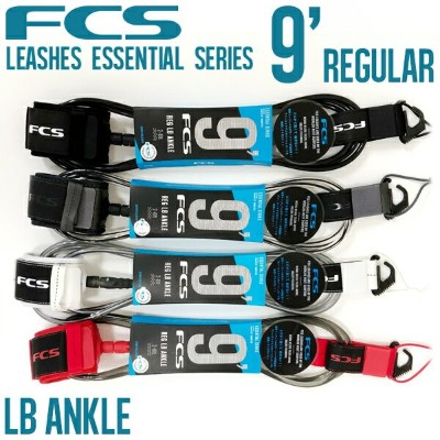 FCS リーシュコード 9' REGULAR ANKLE ESSENTIAL LB LEASHES サーフィン ロングボード 足首用 4カラー