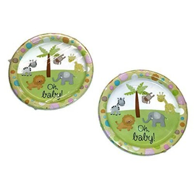 """(36) Baby Shower With Animal Theme Design Paper Party Plates, 8 3/4"""""""