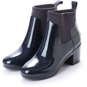 ハンター HUNTER REFINED MID HEEL GLOSS (NVY) レディース