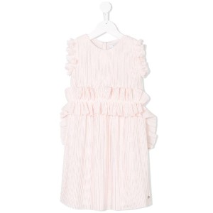 Givenchy Kids pleated dress - ピンク&パープル