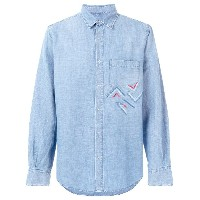 Ermanno Scervino embroidered chambray shirt - ブルー