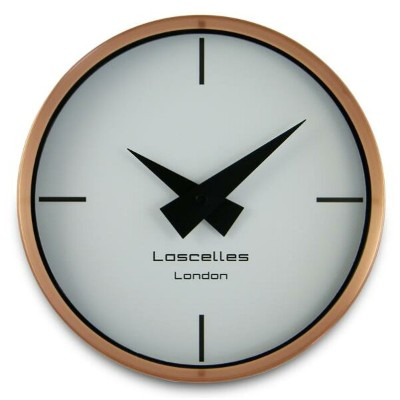 ロジャーラッセルRogerLascelles社製 Modern Brushed Copper Case WALL CLOCK 23cm COSMO-COPPER