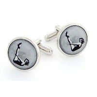 J。J。Weston 1950のpin-up Cufflinks。Made In The USA。