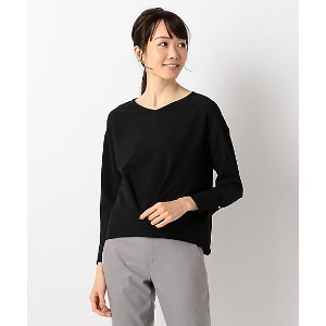 【SALE(伊勢丹)】 ICB L  大きいサイズ Synthetic Georgette カットソー(KKCMYM0214) クロ 【三越・伊勢丹/公式】 レディースウエア~~Tシャツ~~その他~...