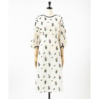 mame/マメ  Pedicel Embroidery Puff Sleeve Dress(MM18SS-DR047) WHITE 【三越・伊勢丹/公式】 レディースウエア~~ワンピース