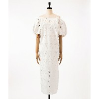 mame/マメ  Floral Cutwork Lace I-Line Dress(MM18SS-DR051) WHITE 【三越・伊勢丹/公式】 レディースウエア~~ワンピース