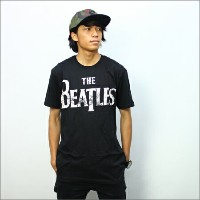 ◎THE BEATLES TシャツDISTRESSED LOGO 黒